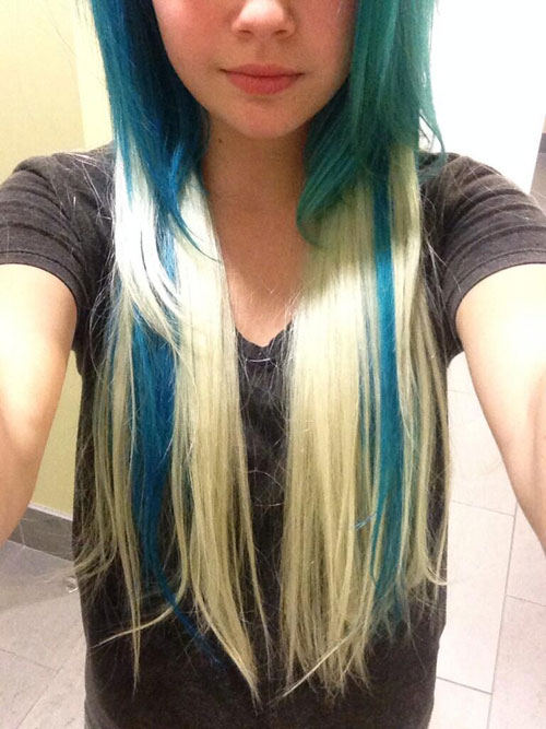 Awesome Bea Miller Straight Blue Extensions Hairstyle Steal Her Style Short Hairstyles Gunalazisus