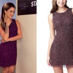 Cassadee Pope: Purple Beaded Dress