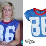 Ellie Goulding: 86 Cropped Athletic Jersey