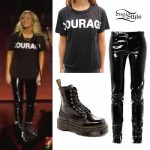 Ellie Goulding: Courage T-Shirt, Vinyl Pants