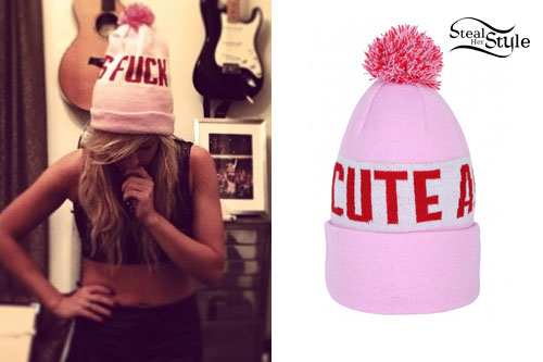 Ellie Goulding: Pink Cute As Fuck Beanie