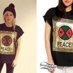 Ellie Goulding: Gold Foil Peace T-Shirt