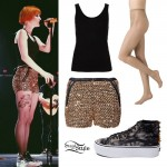 Hayley Williams: Gold Sequin Shorts