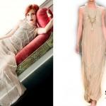 Hayley Williams: Sheer Beige Maxi Dress