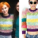 Hayley Williams: Striped Fluffy Sweater