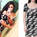 Jasmine Villegas: Triangle Print Bodycon Dress