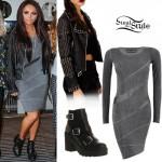 Jesy Nelson: Studded Leather Jacket Outfit