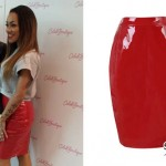 Karis Anderson: Red Patent Leather Skirt