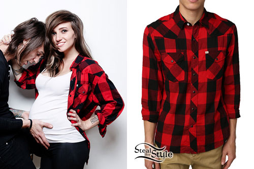 LIGHTS: Red & Black Plaid Shirt