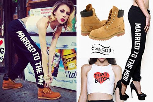Lil Debbie: MTTM Sweatpants, Timberland Boots