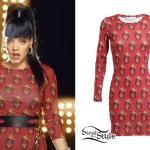 Lily Allen: Notorious BIG Print Dress