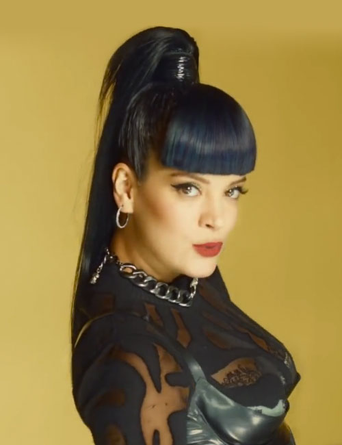 Lily Allen Straight Black Blunt Bangs Colored Bangs High