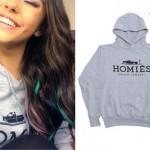 Madison Beer: Gray 'Homies' Hoodie