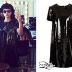 Natalia Kills: Patent Leather Shift Dress