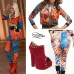 Nicki Minaj: Animal Print Jacket & Leggings