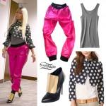 Nicki Minaj: Dot Jacket, Pink Leather Pants