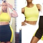 Nicki Minaj: Yellow & Black Colorblock Outfit