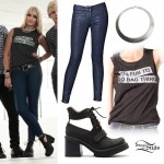 Rydel Lynch: Bad Things Tee, Cutout Boots
