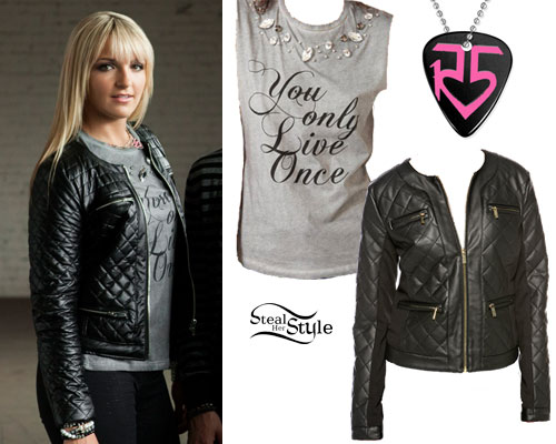 Rydel Lynch: YOLO Jewel Tee, Leather Jacket