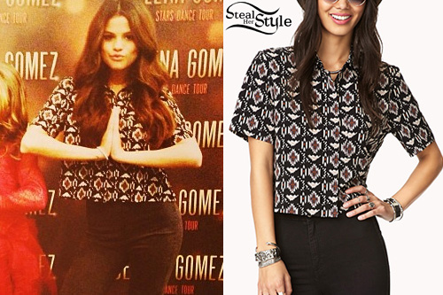 Find the exact items worn by musicians steal her style page 1010 selena gomez at her stars dance tour meet greet in houston november 2nd 2013 m4hsunfo
