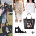 Willow Smith: Rottweiler Tote Bag Outfit