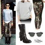 Zendaya: Quilted Sweater, Harness Boots