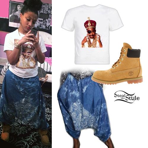 Zonnique Pullins: Paisley Harem Pants Outfit