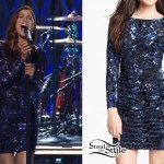 Cassadee Pope: Velvet Animal Print Dress