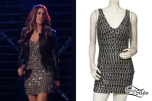 Cassadee Pope: Silver Jewel Stripe Dress
