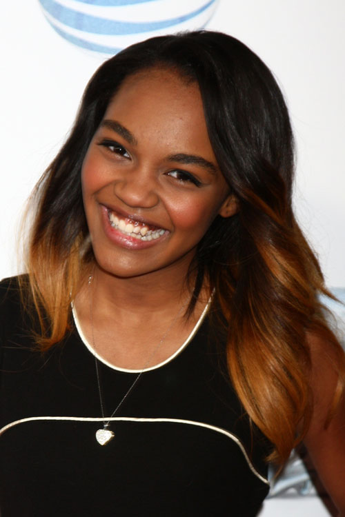 China Anne Mcclain Straight Black Ombr 233 Hairstyle Steal