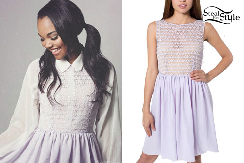 China McClain: Lavender Lace Dress