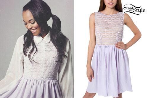China McClain: Lavender Lace Dress
