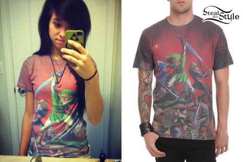 Christina Grimmie: The Legend Of Zelda Tee