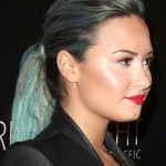 demi-lovato-teal-ponytail