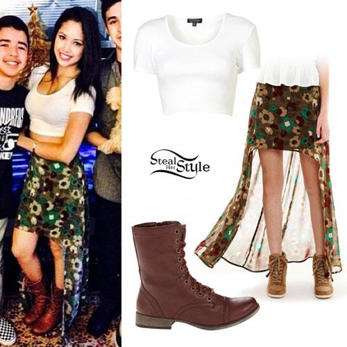 Jasmine Villegas: Camo Floral Hi-Low Skirt