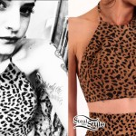 Juliet Simms: Leopard Print Crop Top
