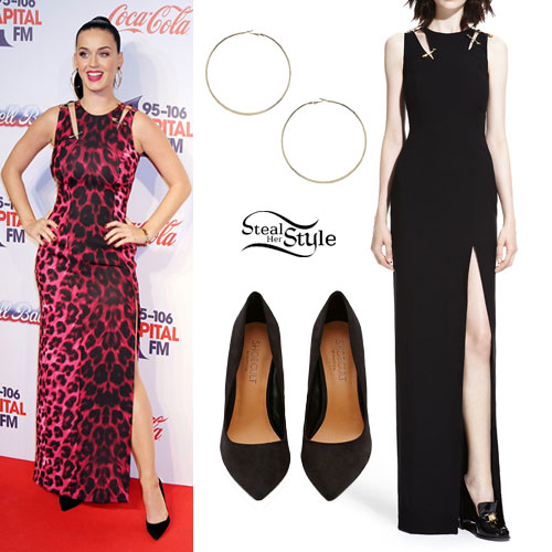 Katy Perry: Leopard Safety Pin Dress