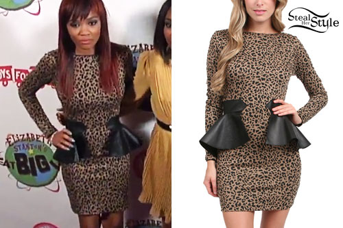 Lauryn McClain: Leopard Peplum Dress