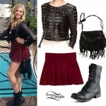 Lovey James: Leather & Mesh Striped Jacket