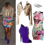 Nicki Minaj: Graffiti Print Dress