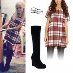 Nina Nesbitt: Tartan Shift Dress