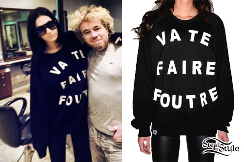 Porcelain Black: Va Te Faire Foutre Sweater