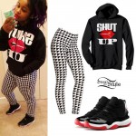 Reginae Carter: Shut Up Hoodie, Print Leggings
