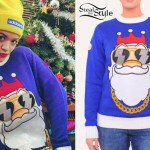 Rita Ora: Bling Santa Sweater