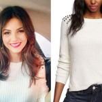 Victoria Justice: Spike Shoulder Sweater