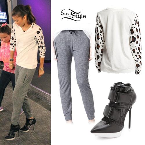 Zendaya: Leopard Sweater, Zipper Joggers