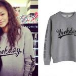 Zendaya: Weekday Crewneck Sweatshirt