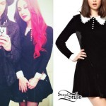 Ash Costello: Collared Long Sleeve Dress