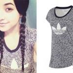 Becky G: Adidas Floral Print T-Shirt
