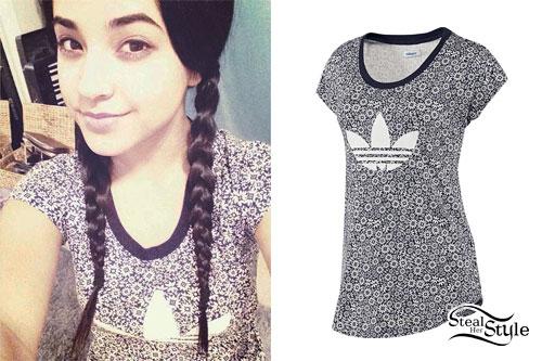 """d27316858f3f Becky G  Adidas Floral Print T-Shirt. """""""